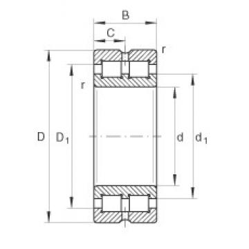 INA SL014912 cylindrical roller bearings