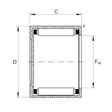 INA BCH1212 needle roller bearings