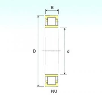 ISB NU 222 cylindrical roller bearings
